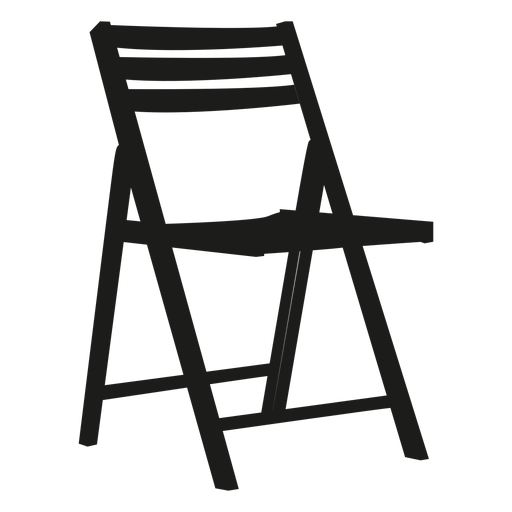 Wooden Folding Chair Flat Icon