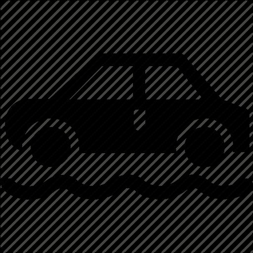 Car, Dashboard, Dirt Road, Driving, Engine, Road, Rough Icon