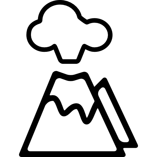 Erupting Volcano Icons Free Download