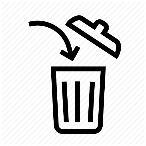 Discard, Garbage, In, It, Throw, Throw It In The Trash, Trash Icon