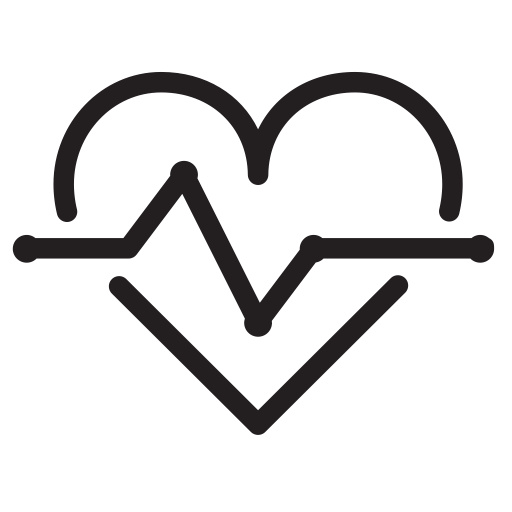 Medical, Graph, Medicine, Heart, Disease Icon