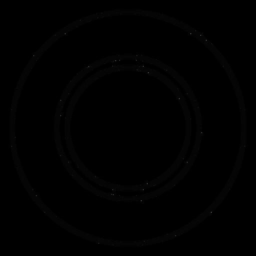 Plate Dish Stroke Icon