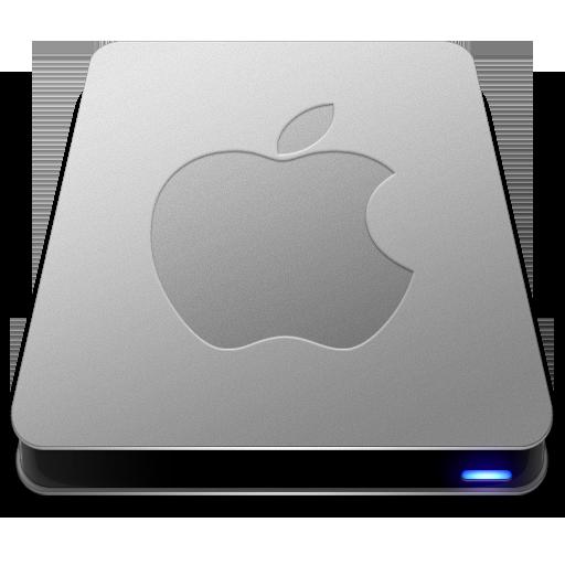 Apple Drive Icon Slick Drives Iconset Thvg
