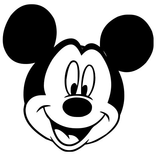 Mickey Mouse Head Black Mickey Mouse Icon