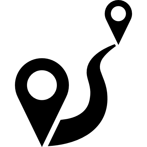 Distance To Travel Between Two Points Icons Free Download