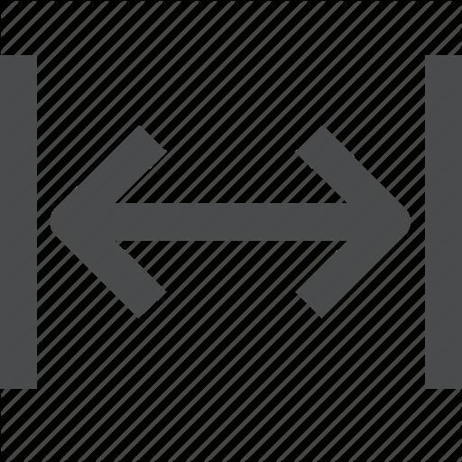 Distance, Expand, Horizontally, Length Icon