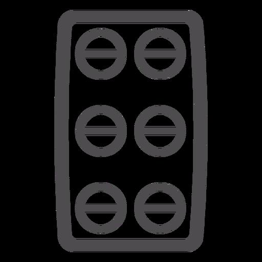 Pill Blister Stroke Icon