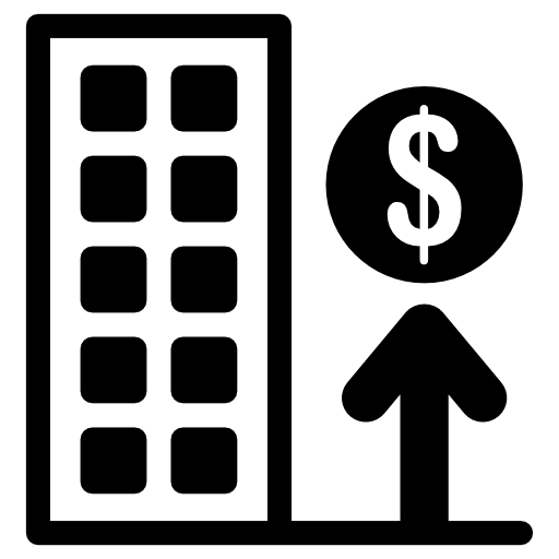 Rising House Prices Icons Free Download