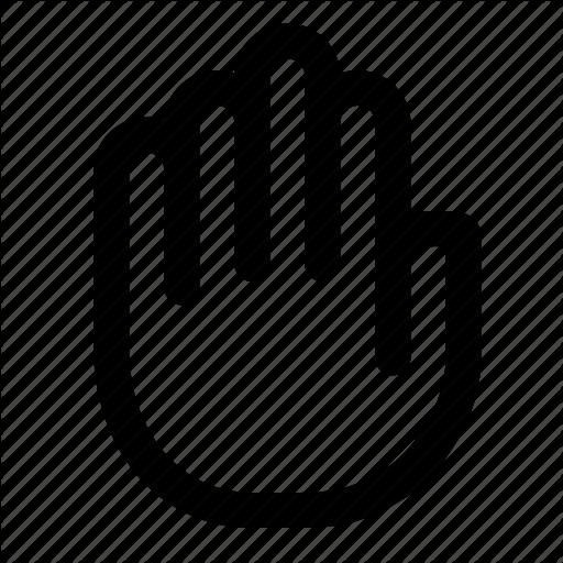 Hand, Privacy, Private, Stop Icon