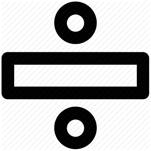 Basic Math, Division, Division Sign, Math, Mathematical, Obelus Icon