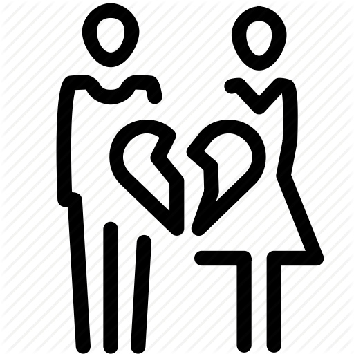 Break, Couple, Divorce, Heart, Relationship Icon
