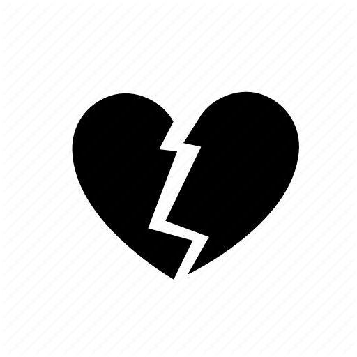 Broken, Divorce, Heart, Heartbreak, Love, Romantic, Valentine Day Icon
