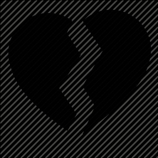 Broken, Divorce, Heart, Love, Over Icon