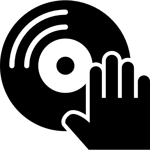 Musical Disc And Dj Hand Icons Free Download
