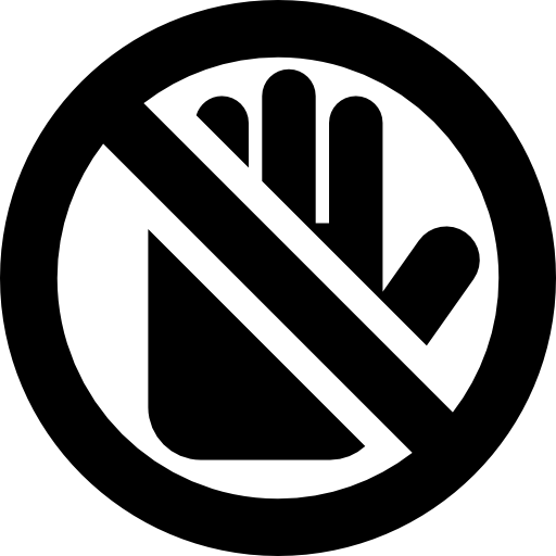 Do Not Touch Icons Free Download