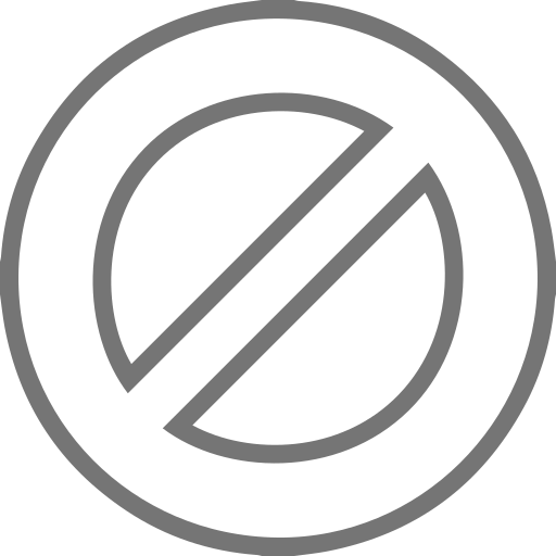 Block, Stop, No Passing, Do Not Enter Icon Free Of Line