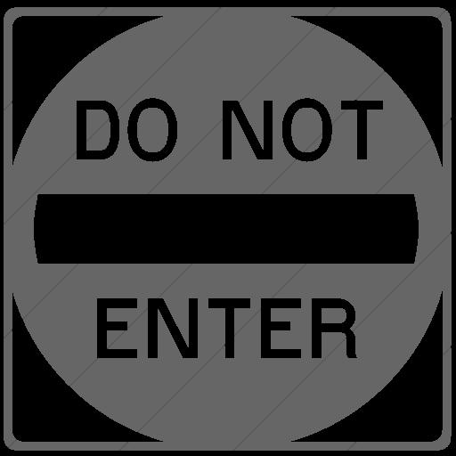 Simple Gray Classica Do Not Enter Icon