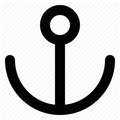 Anchor, Navy, Ship Anchor, Ship Dock Icon