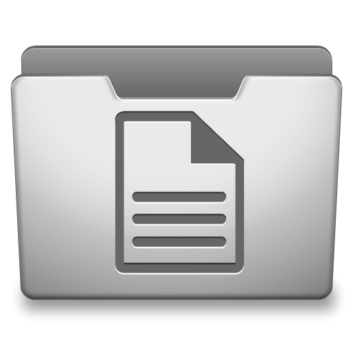 Aluminum Grey Documents Icon