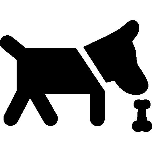 Dog Smelling A Bone