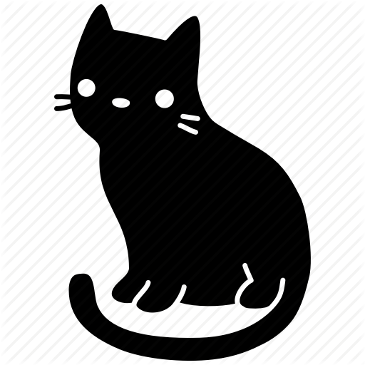 Black And White Clip Art Freeuse Library Cat Huge Freebie