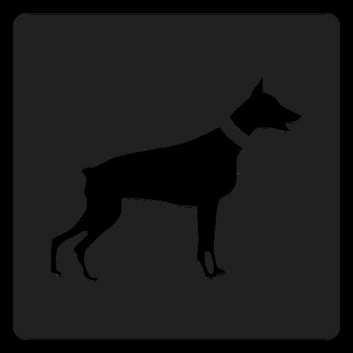 Simple Dog Square Icon