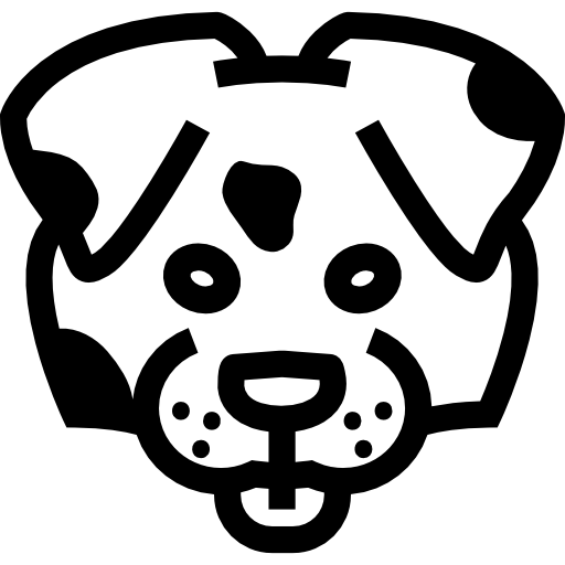 Dog Face Outline Front