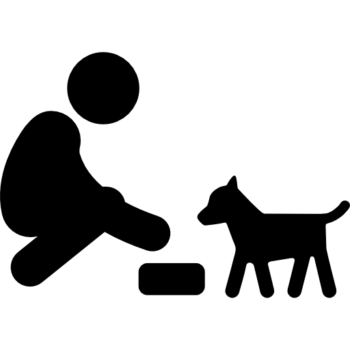 Feeding A Dog Free Vector Icons Designed