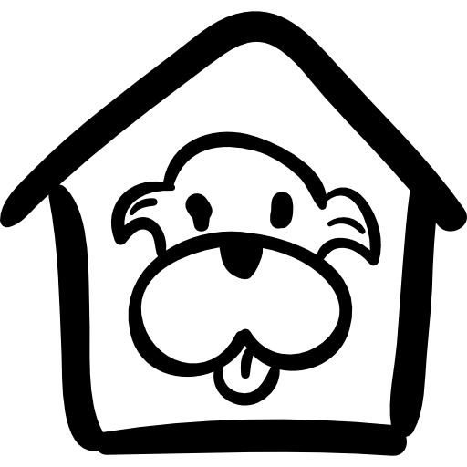 Pet House With A Dog Icons Free Download