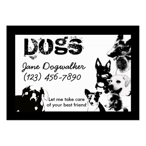 Dog Cards Icon Grooming Business