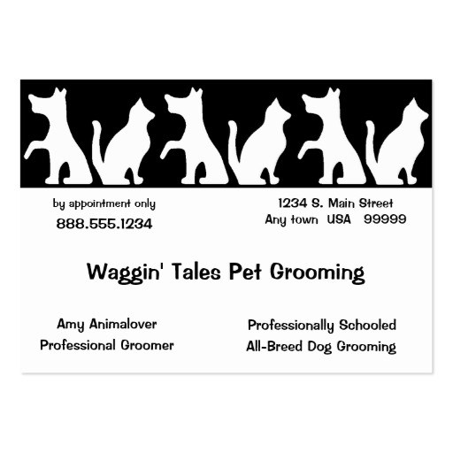 Dog Grooming Icon Business Cards