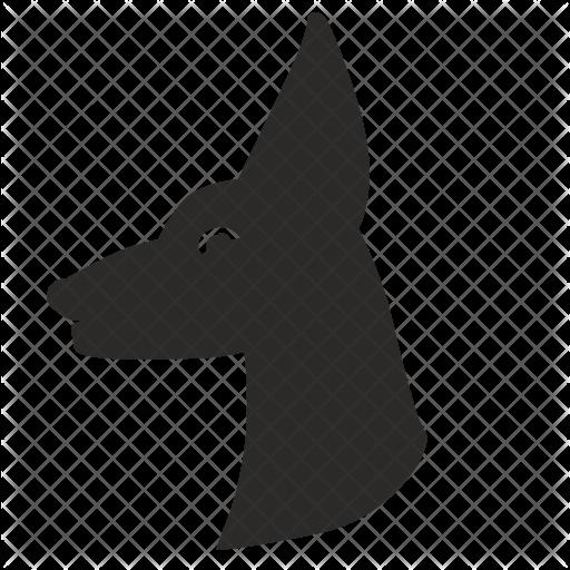 Doberman Vector Head Transparent Png Clipart Free Download