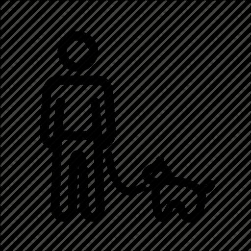 Dog, Male, Man, Man With Dog, Walking The Dog Icon