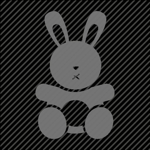 Baby, Doll, Girl, Infant, Kid, Rabbit, Toy Icon
