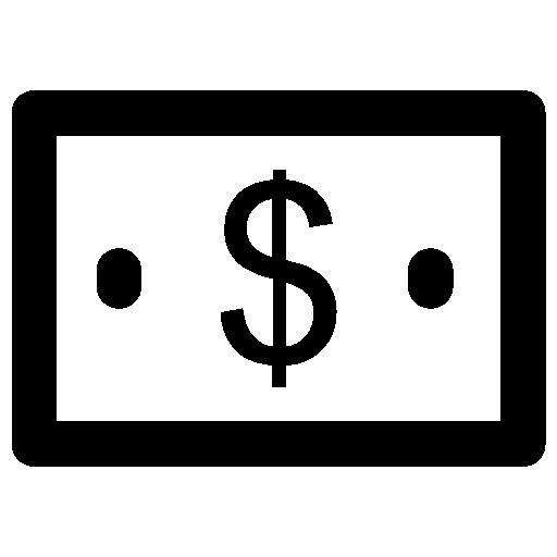 Dollar Bill Icon Hotel Elements Vectors Market