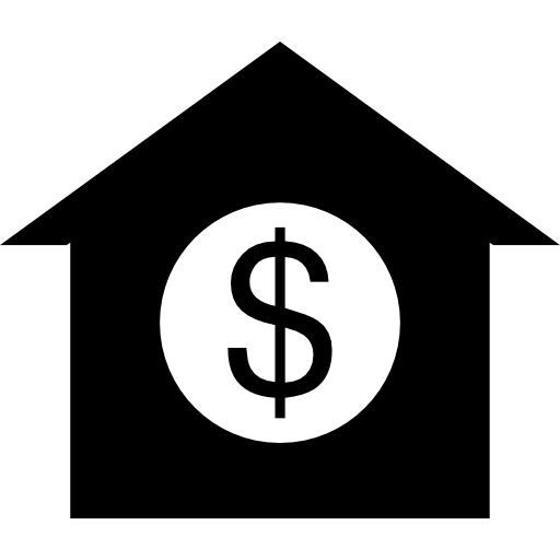 Dollar Sign On A House Icons Free Download