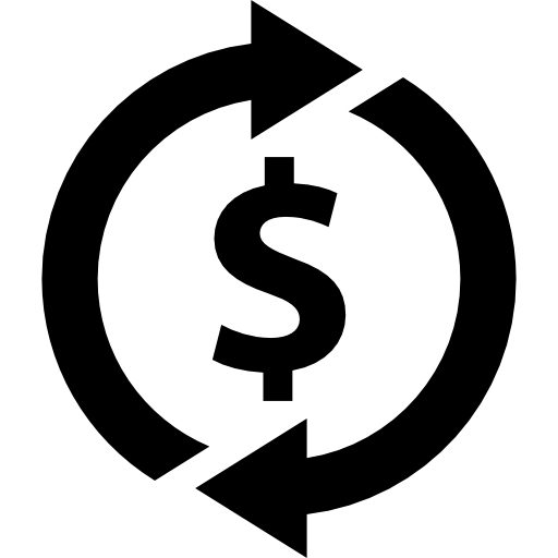 Dollar Sign With Rotating Arrows Icons Free Download