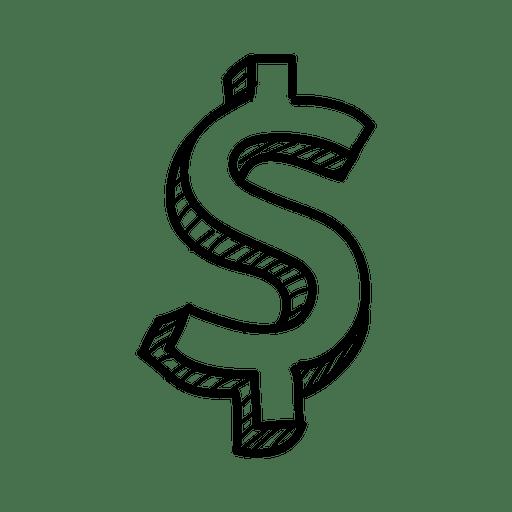 Hand Drawn Dollar Sign