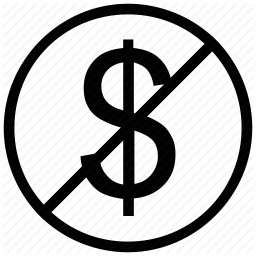Anti Dollar, Free Of Charge, No Dollar, Sign Icon