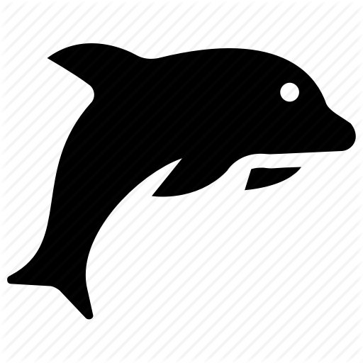Animal, Dolphin, Fish, Mammal, Marine Life Icon