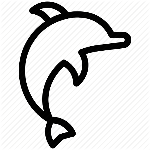 Cetacean, Dolphin, Dolphin Jumping, Fish, Mammal, Sea Animal Icon