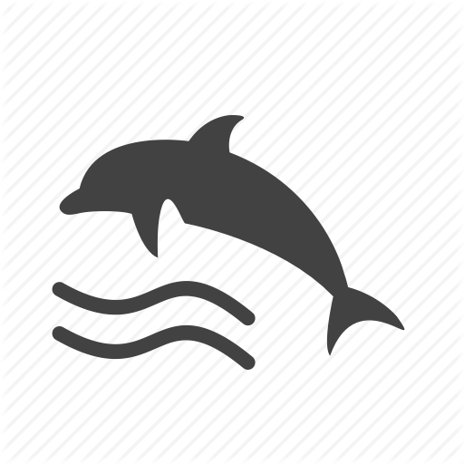 Dolphin, Fish, Marine, Ocean, Swim, Water, Whale Icon