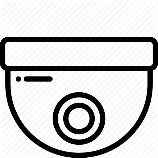 Automation, Camera, Dome, Home, Outline, Security Icon