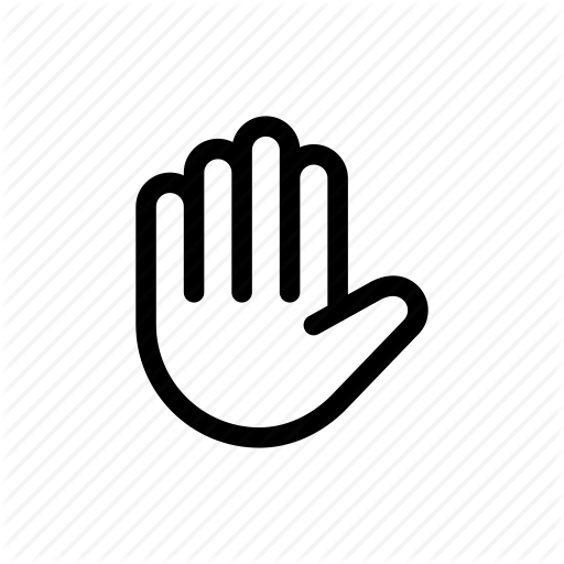 Control, Dont Move, Gesture, Hand, Stay, Stop, Wait Icon