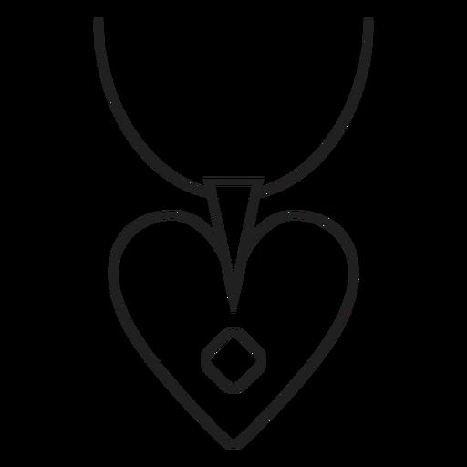Heart Pendant Necklace Icon