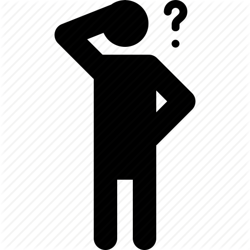 Activity, Doubt, Man, Person, Question, Standing, Thinking Icon