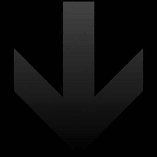 Simple Black Gradient Aiga Down Arrow Icon