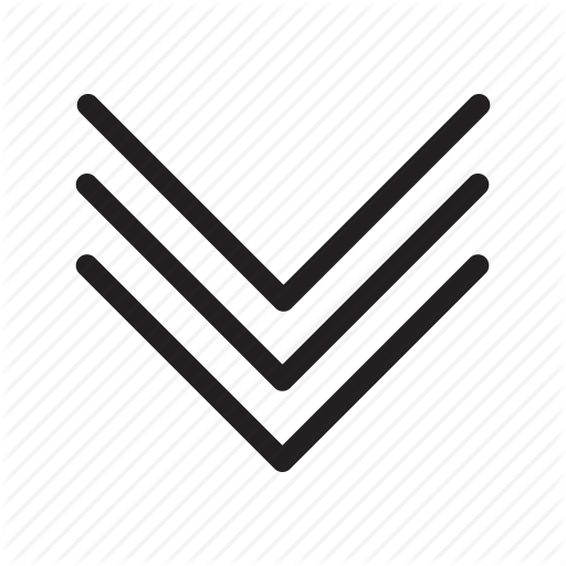 Arrow, Arrows, Down, Expand, Triple Arrows Icon