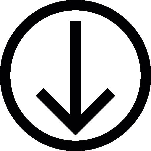 Round Download Button