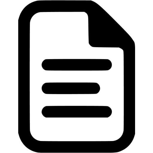 Black Document Icon